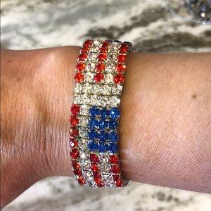 Jewelry - Flag rhinestone bracelet